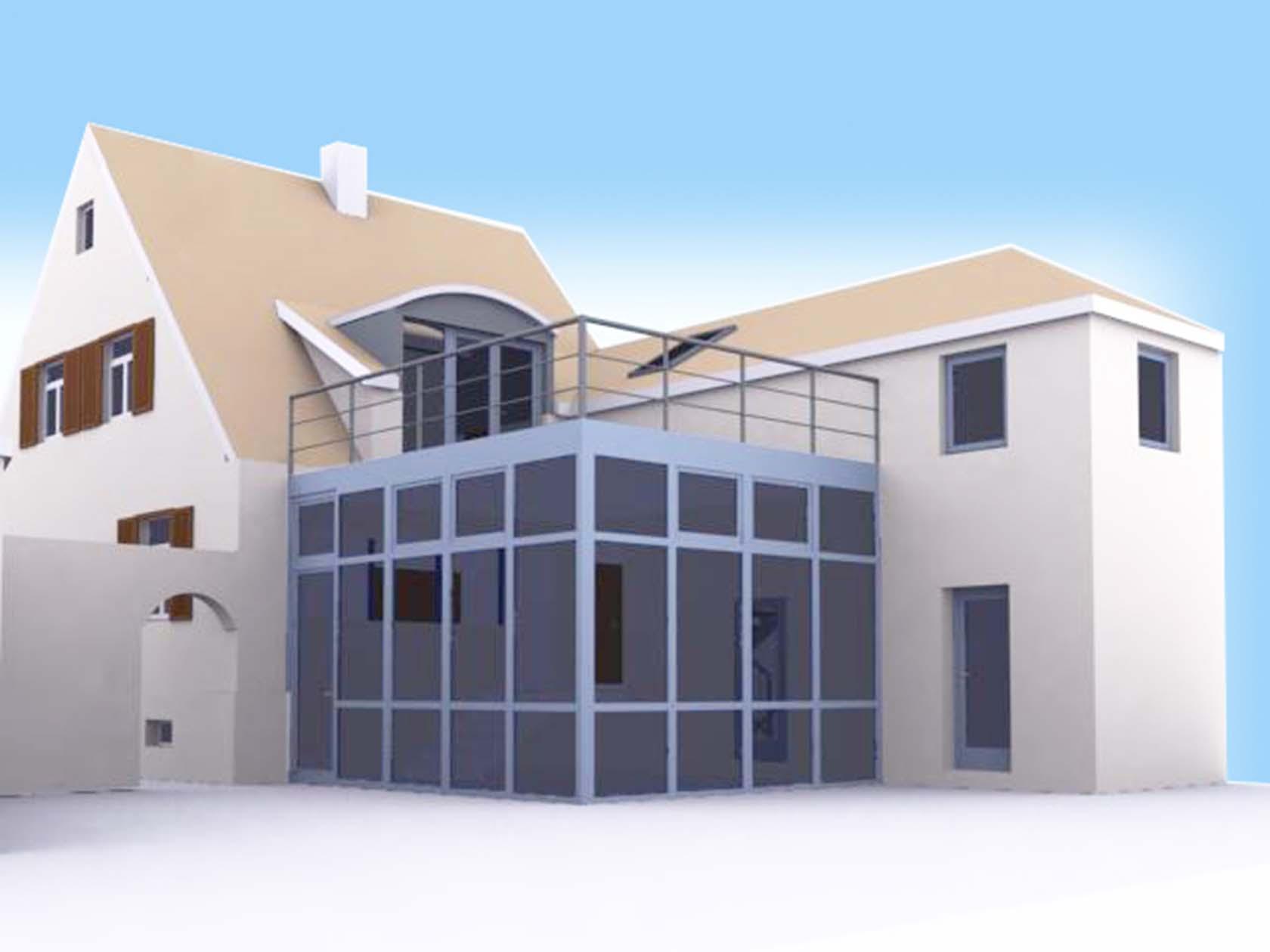 um und anbau einfamilienwohnhaus. Black Bedroom Furniture Sets. Home Design Ideas
