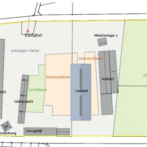 Umwandlung eines Betonsteinwerk in ein Gewerbegebiet