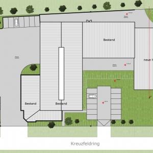 Erweiterung eines Fabrikgeländes